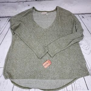 MUDD Sweater, lightweight,  green, size L